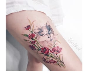 animal, body art, and cat image