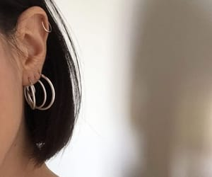 earring, gold, and goals image