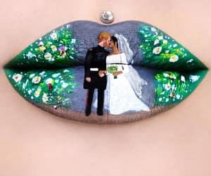 lips, prince harry, and royal wedding image