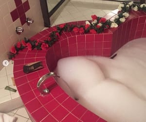 aesthetic, bathroom, and flowers image