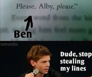 newt, maze runner, and ben image