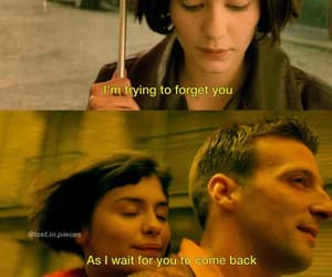 amelie, movie quotes, and broken heart image