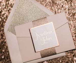 invitation, rose gold, and wedding goals image