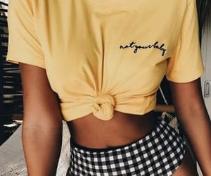 beach, clothes, and yellow image