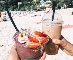 beach, drinks, and food image