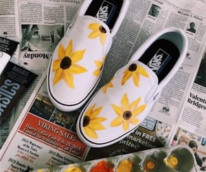 shoes, art, and sunflower image