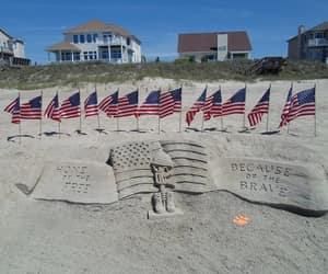 america, patriotic, and sand image