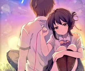 anime, anime girl, and your name image