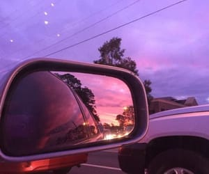 sky, pink, and car image