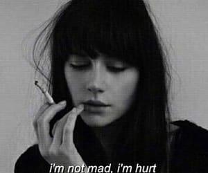 hurt, mad, and smoke image