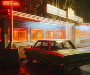 diner, neon, and night image