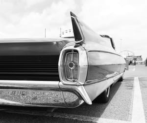 black and white, cadillac, and chrome image
