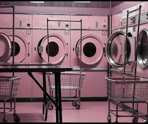 laundromat and pink image