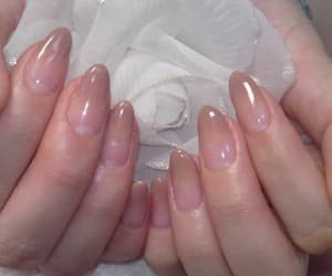 nails, pale, and pink image