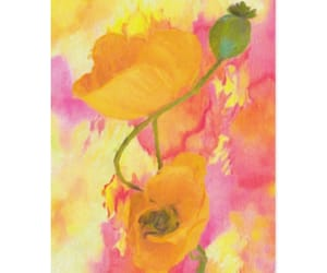 cards, flowers, and watercolors image