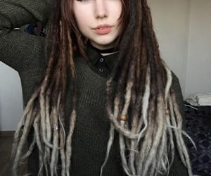 bangs, dreadlocks, and beautiful image