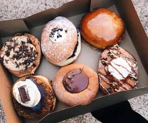 donuts, sweet, and chocolate image