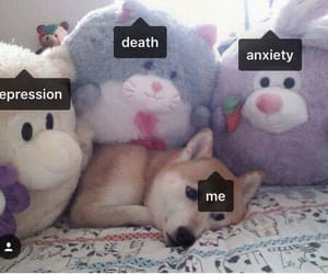 death, depression, and anxiety image