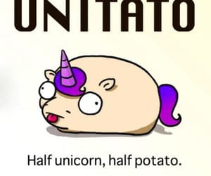 feelings, unicorn, and potato image