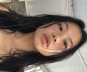 asian, beauty, and freckles image
