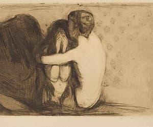 art, hug, and edvard munch image