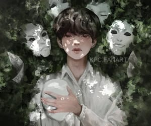 asian, boy, and drawing image