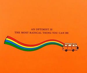 quotes, orange, and rainbow image