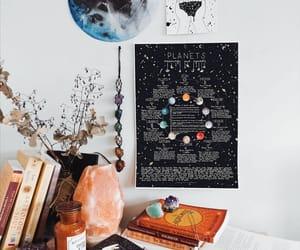 astrology, black and white, and boho image