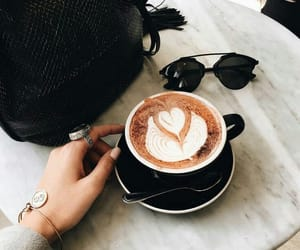 coffee, drink, and sunglasses image