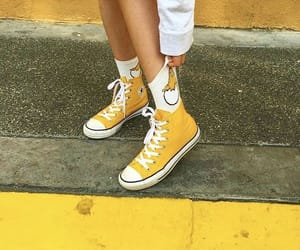 yellow and converse image