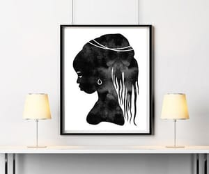 africa, bedroom decor, and digital painting image