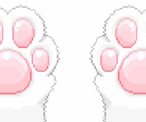 paws, kitten, and pixel image