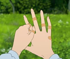 anime, gif, and hands image