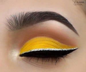eyes, makeup, and yellow image