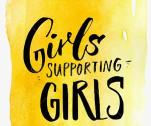 yellow and girlssupportinggirls image