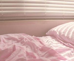 pink, bed, and pastel image
