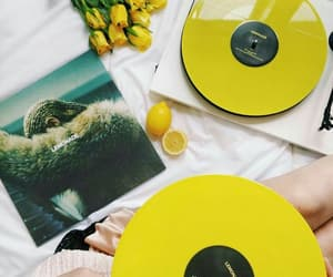 yellow, lemonade, and music image