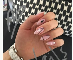 manicure, Nude, and nails image