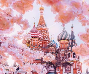travel, pink, and russia image
