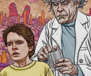 Back to the Future and rick and morty image