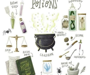 books, harry potter, and potions image