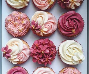 cakes, flowers, and roses image