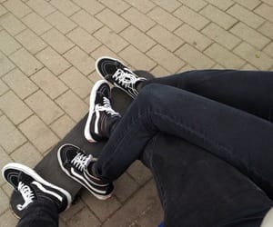 boy, couple, and vans image
