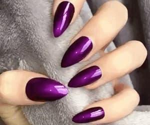 gif, nails, and purple image