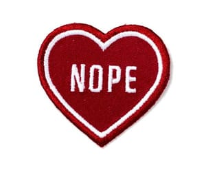 heart, red, and nope image