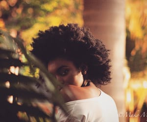 black women, natural hair, and pretty hair image