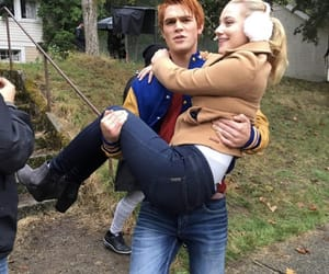 kj apa, riverdale, and lili reinhart image
