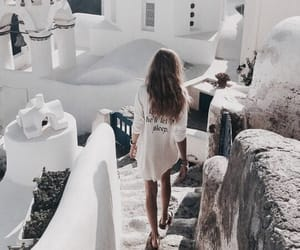Greece, girl, and travel image