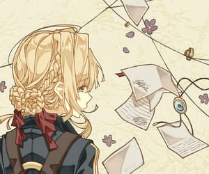 anime, violet evergarden, and girl image