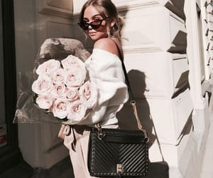 fashion, roses, and bag image